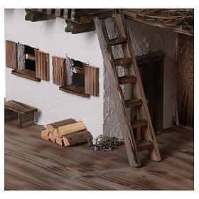 Étable modèle Bogen en bois pour crèche 11-15 cm s2