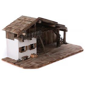 Stalla modello Bogen in legno per presepe 11-15 cm s4