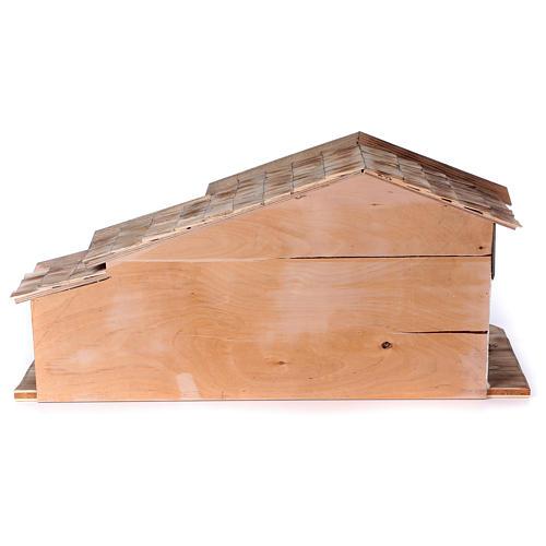 Stalla modello Bogen in legno per presepe 11-15 cm 5
