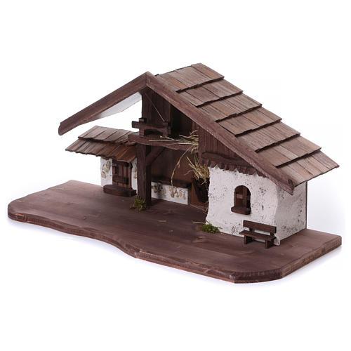 Étable modèle Osser en bois pour santons 11-13 cm 3