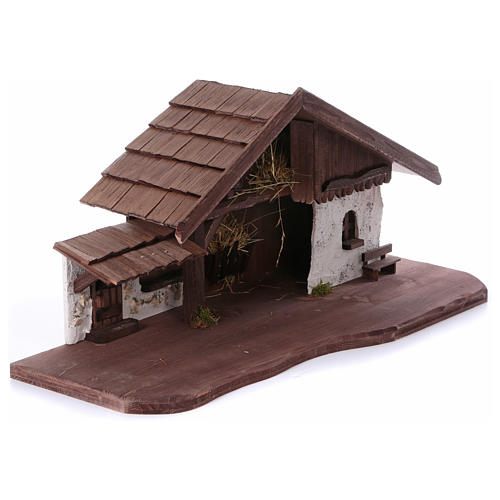 Étable modèle Osser en bois pour santons 11-13 cm 5