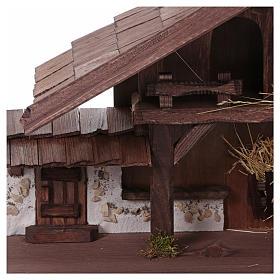 Stalla modello Osser in legno per presepe 11-13 cm s2