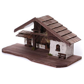 Stalla modello Osser in legno per presepe 11-13 cm s3