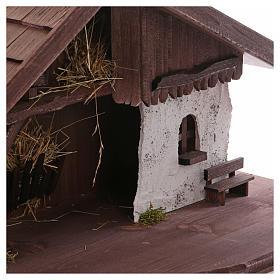 Stalla modello Osser in legno per presepe 11-13 cm s4