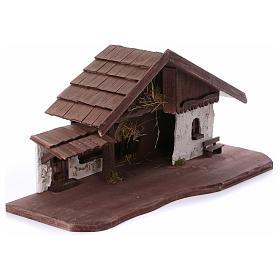 Stalla modello Osser in legno per presepe 11-13 cm s5