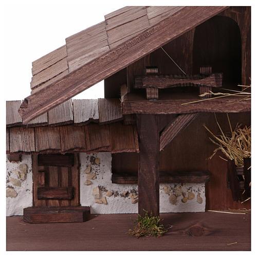 Stalla modello Osser in legno per presepe 11-13 cm 2