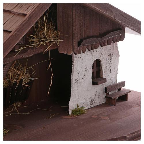 Stalla modello Osser in legno per presepe 11-13 cm 4