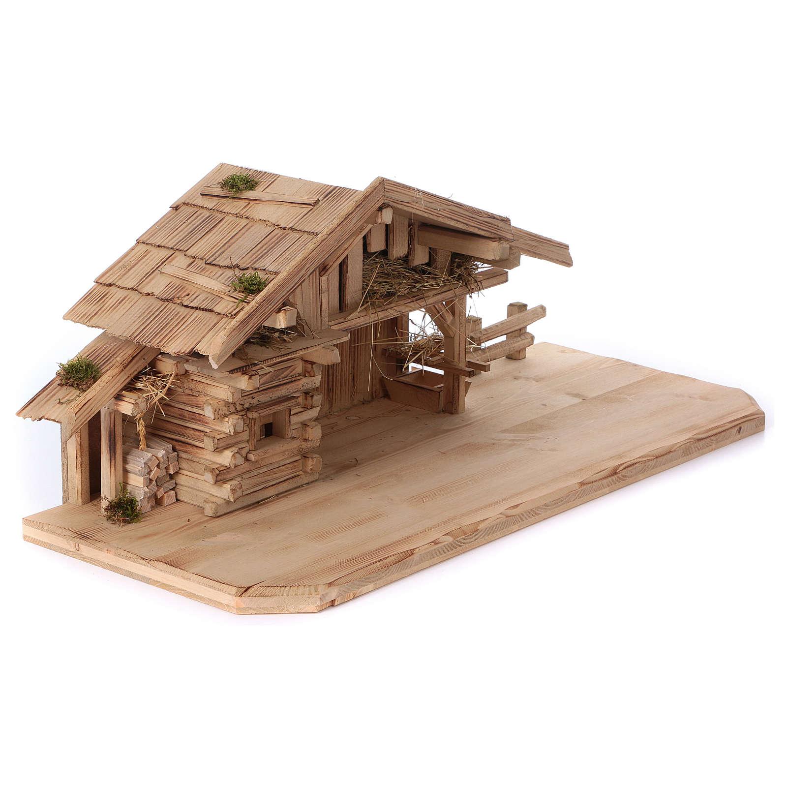 Étable modèle Plosberg en bois pour crèche 9-11 cm 4