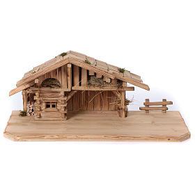 Étable modèle Plosberg en bois pour crèche 9-11 cm s1