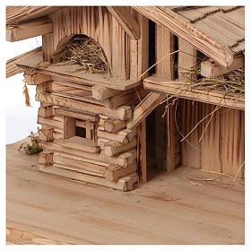 Étable modèle Plosberg en bois pour crèche 9-11 cm s2