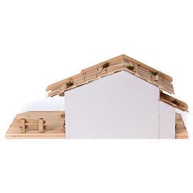 Stalla modello Plosberg in legno per presepe 9-11 cm s6