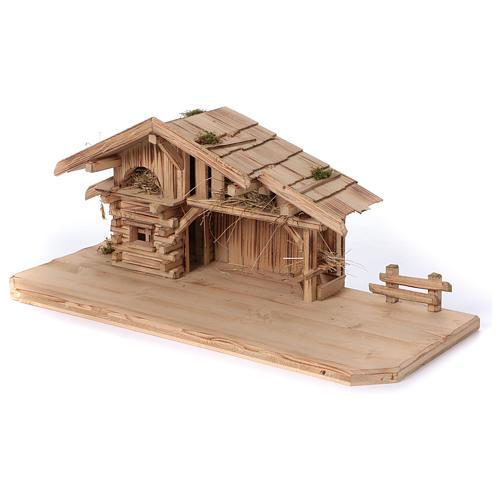 Stalla modello Plosberg in legno per presepe 9-11 cm 3