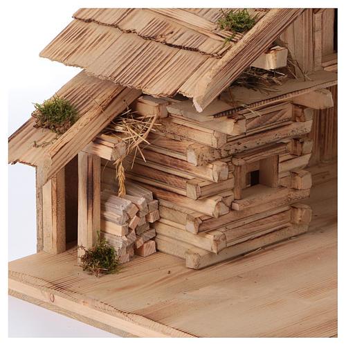 Stalla modello Plosberg in legno per presepe 9-11 cm 4