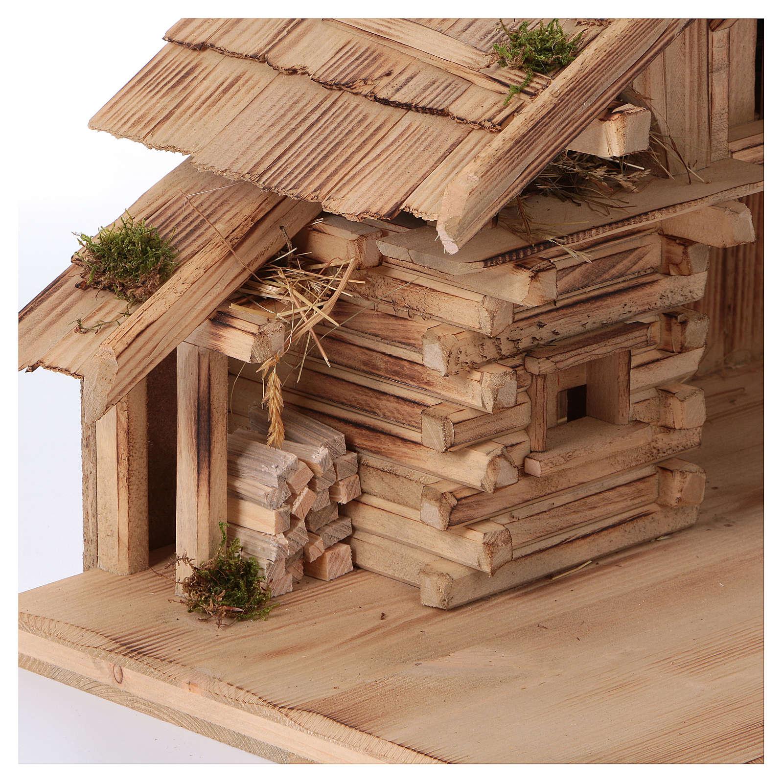 Nativity stable, Plosberg model, in wood for 9-11 cm nativity 4