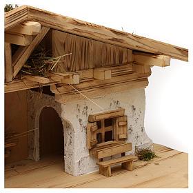 Étable modèle Flos en bois pour crèche avec santons 10-12 cm s2