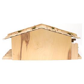 Étable modèle Flos en bois pour crèche avec santons 10-12 cm s6
