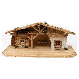 Stalla modello Flos in legno per presepe 10-12 cm s1
