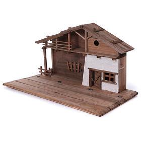 STOCK Stalla in legno per presepe 40-50 cm s3