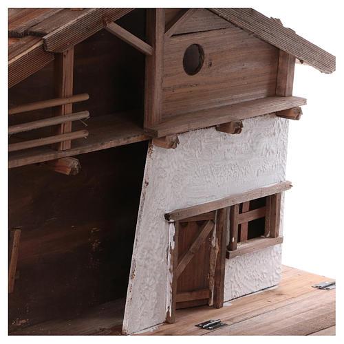 STOCK Stalla in legno per presepe 40-50 cm 2