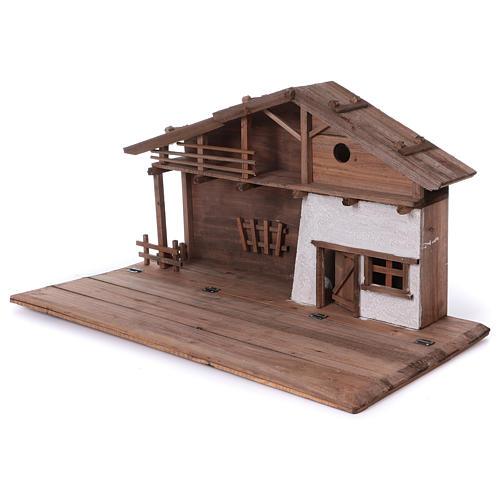 STOCK Stalla in legno per presepe 40-50 cm 3