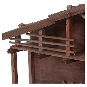 STOCK Brown nativity stable, in wood for 40-50 cm nativity s4