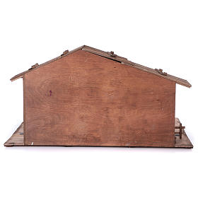 STOCK Brown nativity stable, in wood for 40-50 cm nativity s6