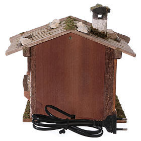 Alpine-style oven with 230V light 22x20x22 cm for 8-10cm Nativity Scene s4
