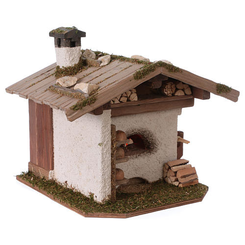 Alpine-style oven with 230V light 22x20x22 cm for 8-10cm Nativity Scene 2