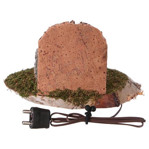 Casserole sur le feu avec éclairage électrique 6x8x6 cm pour crèche de 8-10 cm 3