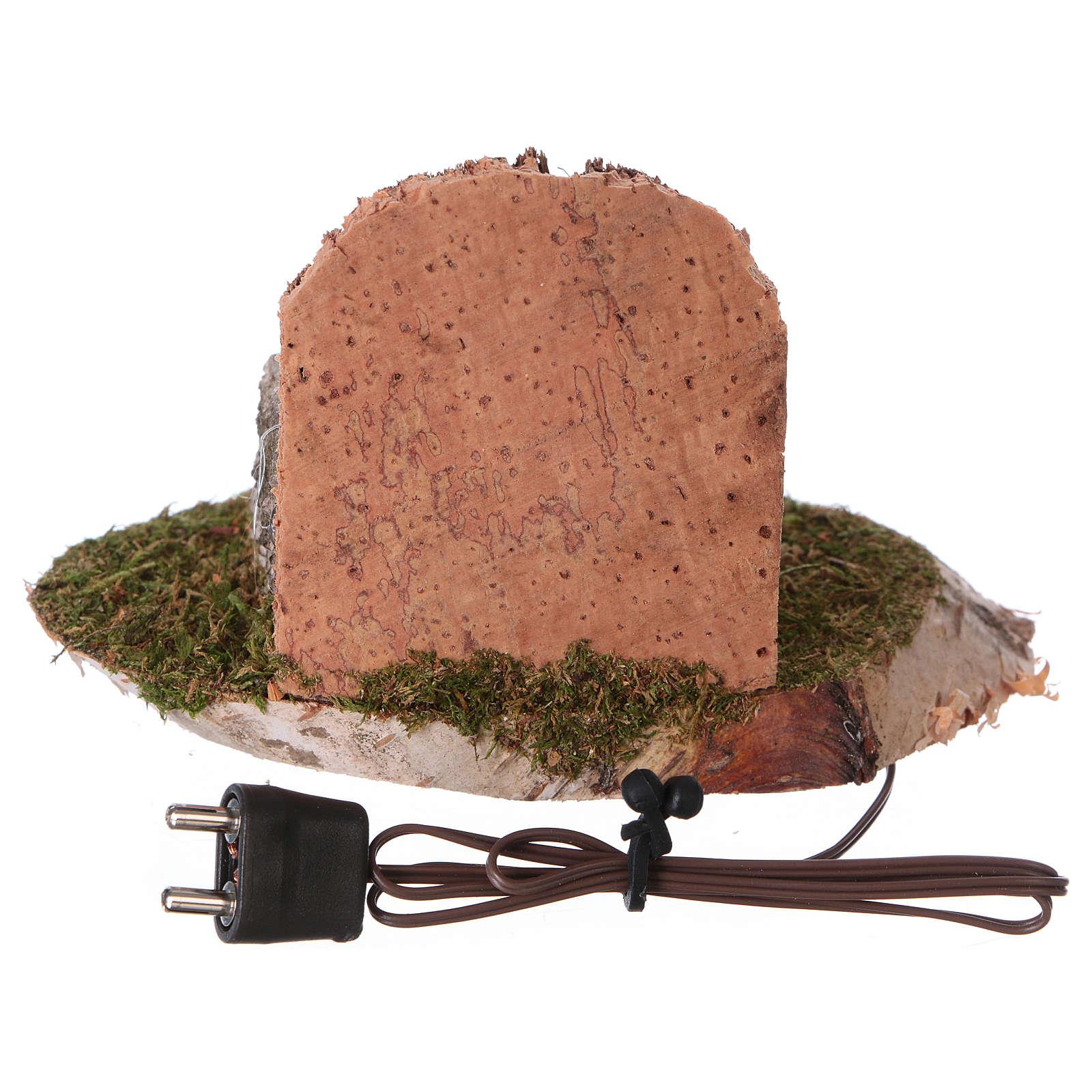 Pentola su fuoco con illuminazione elettrica 6x8x6 cm per presepi di 8-10 cm 4