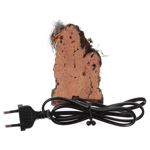 Falò con luce tremolante effetto fuoco 230V per presepi di 12-14 cm 3