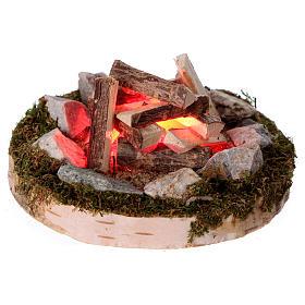 Feu de joie lumière effet feu éclairage 12V 4x6x6 cm pour crèches de 6-8 cm s2