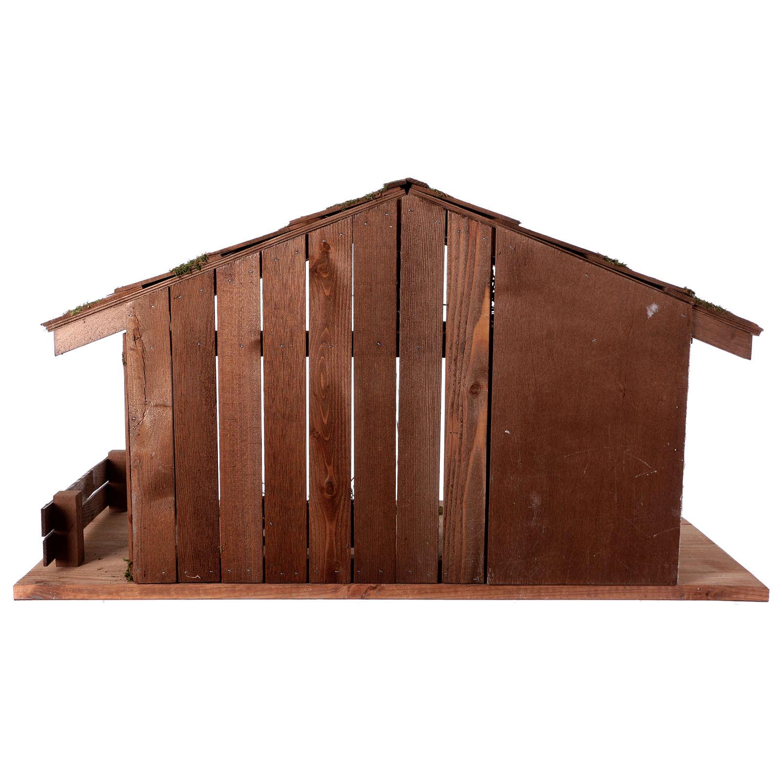 Capanna stile nordico mangiatoia stalla 43x80x40 presepi 20 cm 4