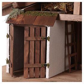 Capanna stile nordico mangiatoia stalla 43x80x40 presepi 20 cm s2