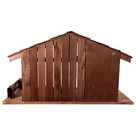 Capanna stile nordico mangiatoia stalla 43x80x40 presepi 20 cm s5