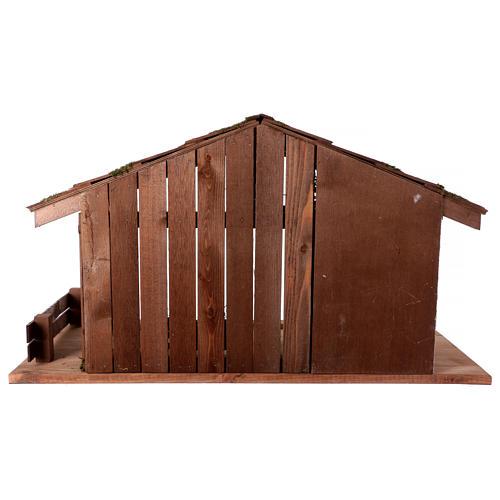Capanna stile nordico mangiatoia stalla 43x80x40 presepi 20 cm 5