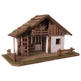 Cabaña estilo nórdico con altillo y habitación 34x59x30 belén 13 cm s4