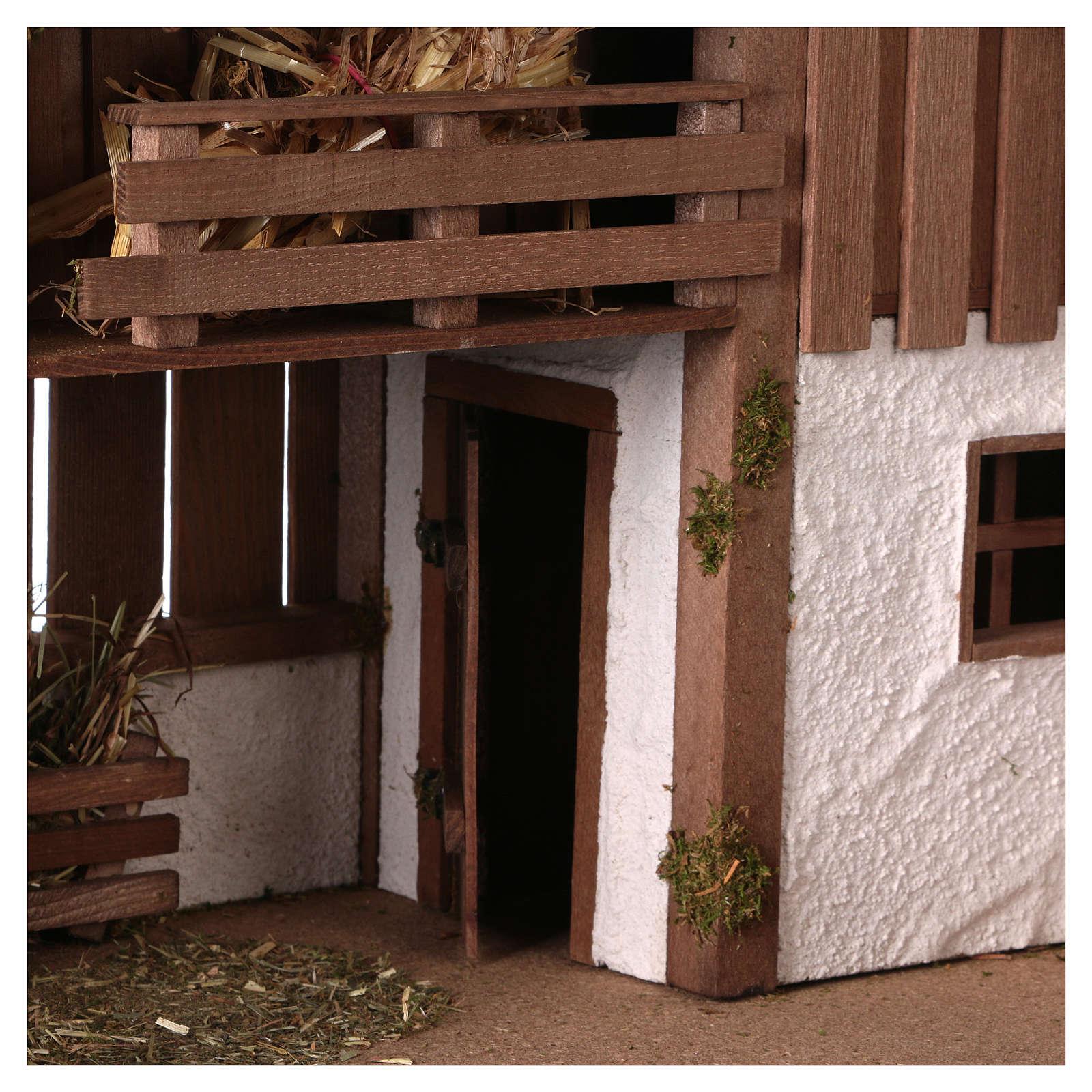 Capanna stile nordico con soppalco a vista e stanza 34x59x30 presepe 13 cm 4