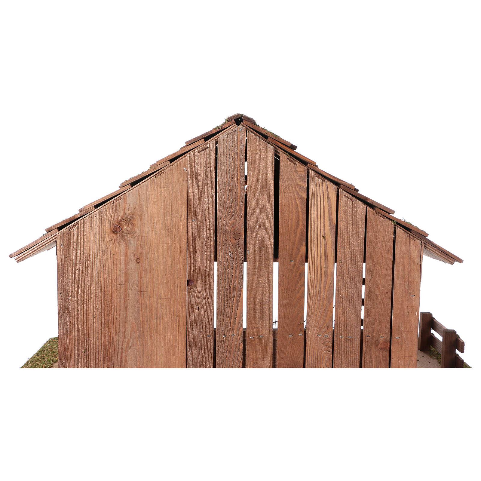 Stajenka styl nordycki z poddaszem widocznym i pomieszczeniem 34x59x30 cm do szopki 13 cm 4
