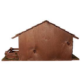 Capanna con stanza e recinto 33x62x30 cm presepe 13 cm s4