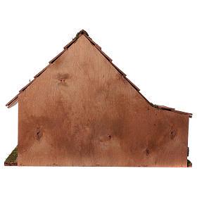 Capanna tetto conico con stalla 29x59x30 cm per presepi di 13 cm s4