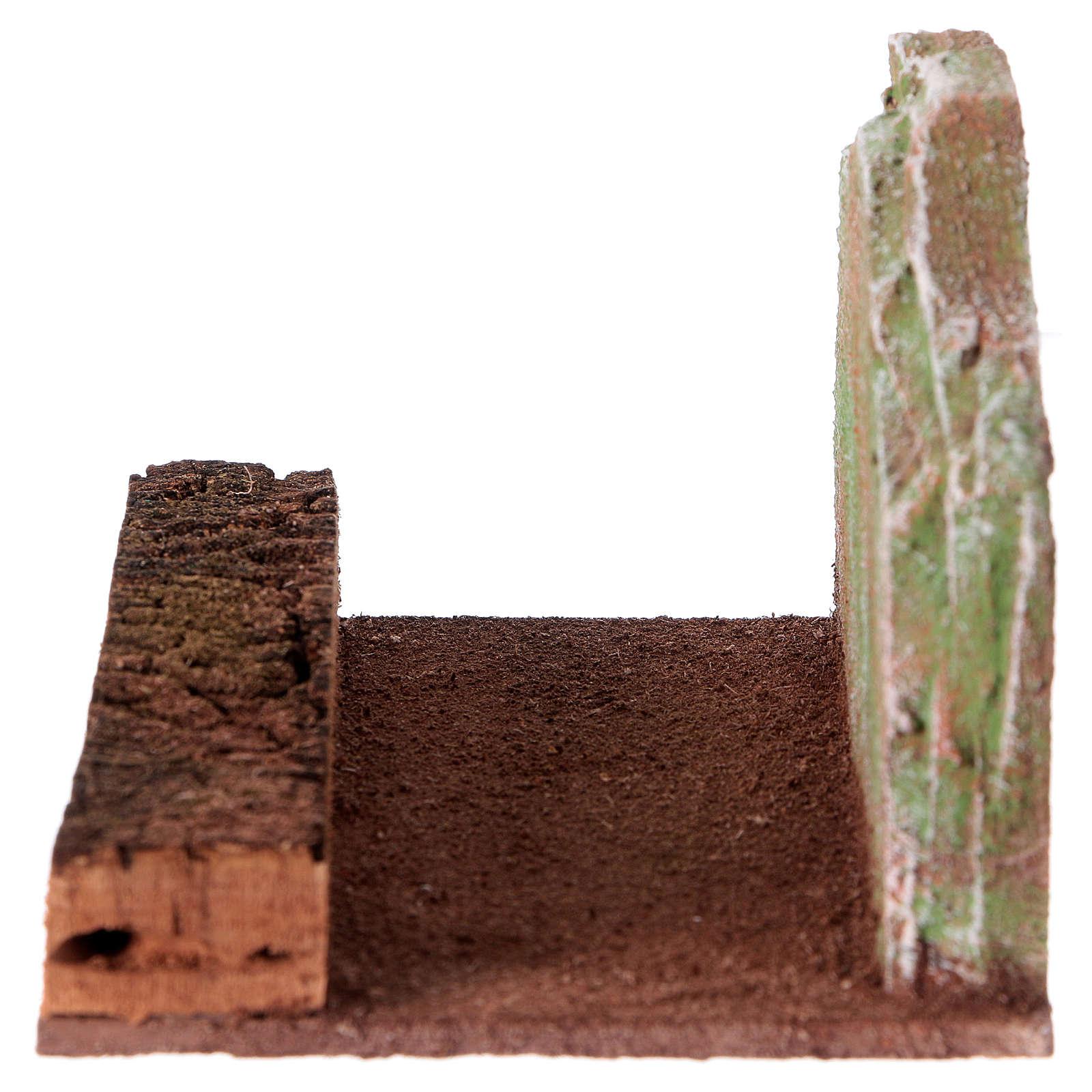 Route rectiligne avec rocher crèche 12 cm 4