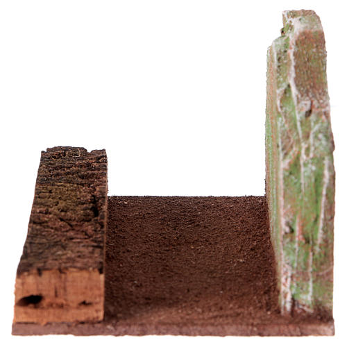 Route rectiligne avec rocher crèche 12 cm 3