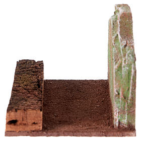 Straight road with rock, for 12 cm nativity s3