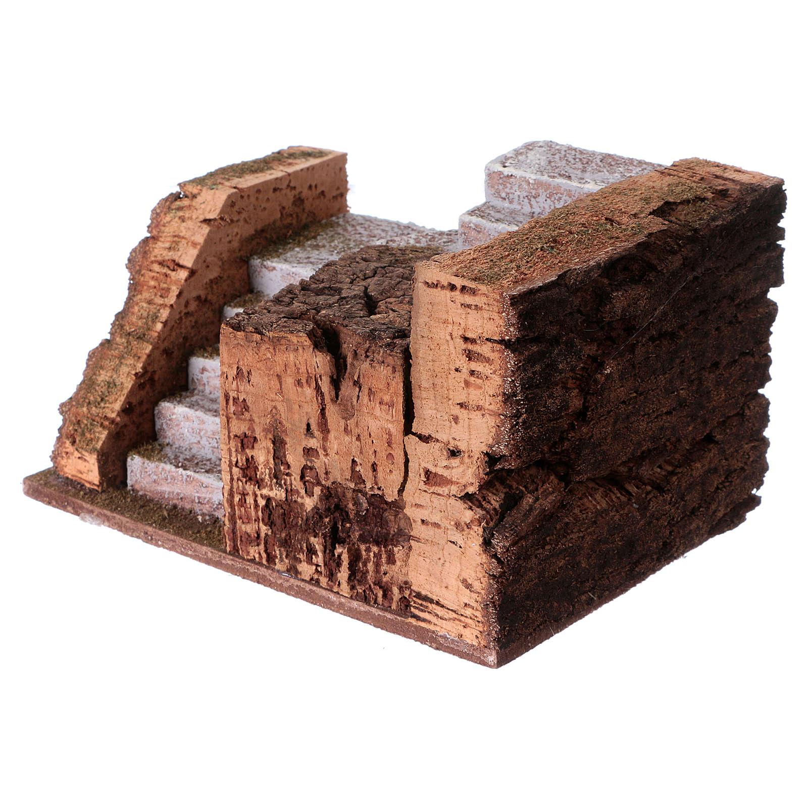 Escalier pour figurines crèche 10 cm 9x15x10 cm 4