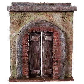 Casas, ambientaciones y tiendas: Fachada puerta central para belén 10 cm
