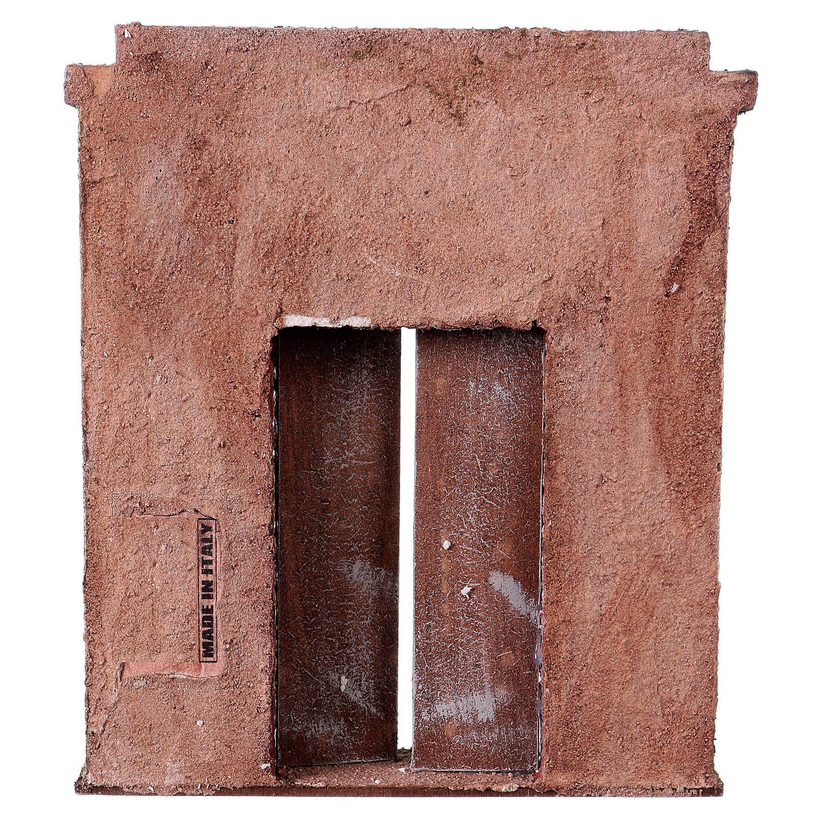 Facciata con porta centrale per statue da 12 cm 4