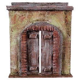 Facciata con porta centrale per statue da 12 cm s1