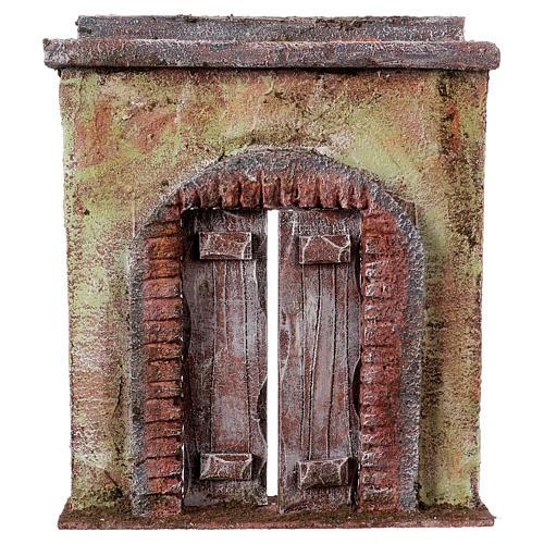 Facciata con porta centrale per statue da 12 cm 1