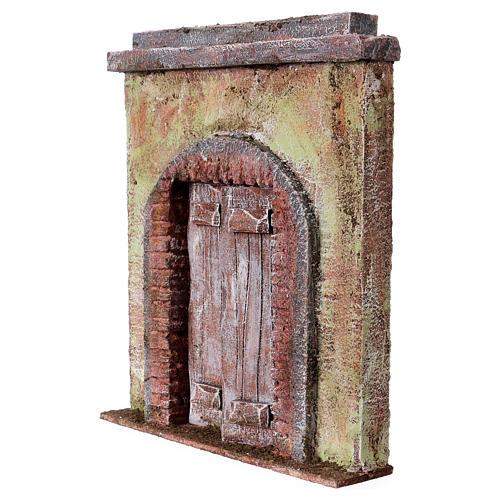 Facciata con porta centrale per statue da 12 cm 2